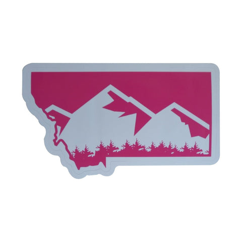 Montana Mountain Sticker Pink