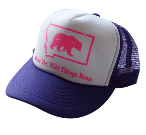 CLEARANCE Youth Purple and Pink Bear Hat