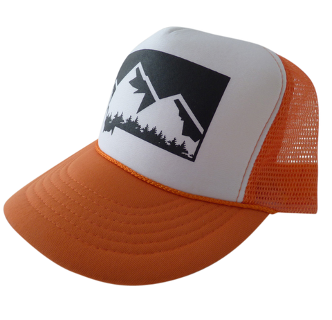 CLEARANCE Youth Orange Mountain Hat