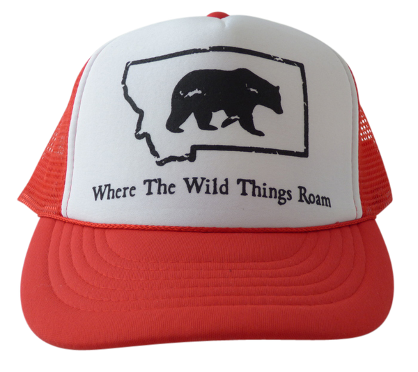 CLEARANCE Youth Red Bear Hat