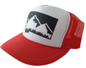 CLEARANCE Youth Red Mountain Hat