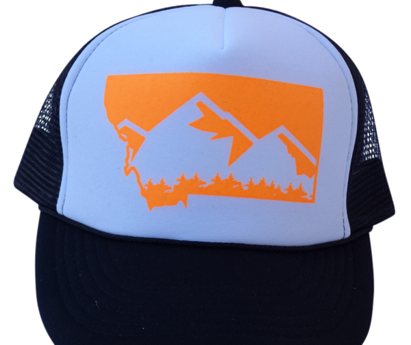 CLEARANCE Youth Black & Orange Mountain Hat