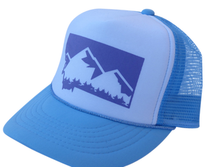CLEARANCE Youth Light Blue Mountain Hat