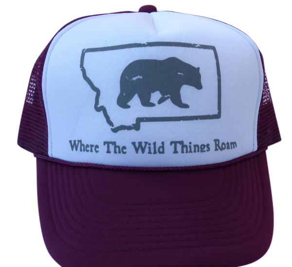CLEARANCE Youth Maroon Bear Hat