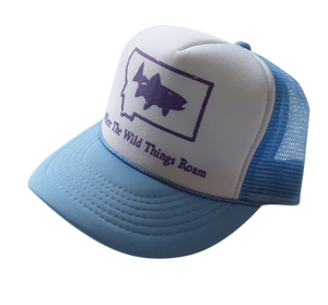 CLEARANCE Youth Light Blue Fish Hat