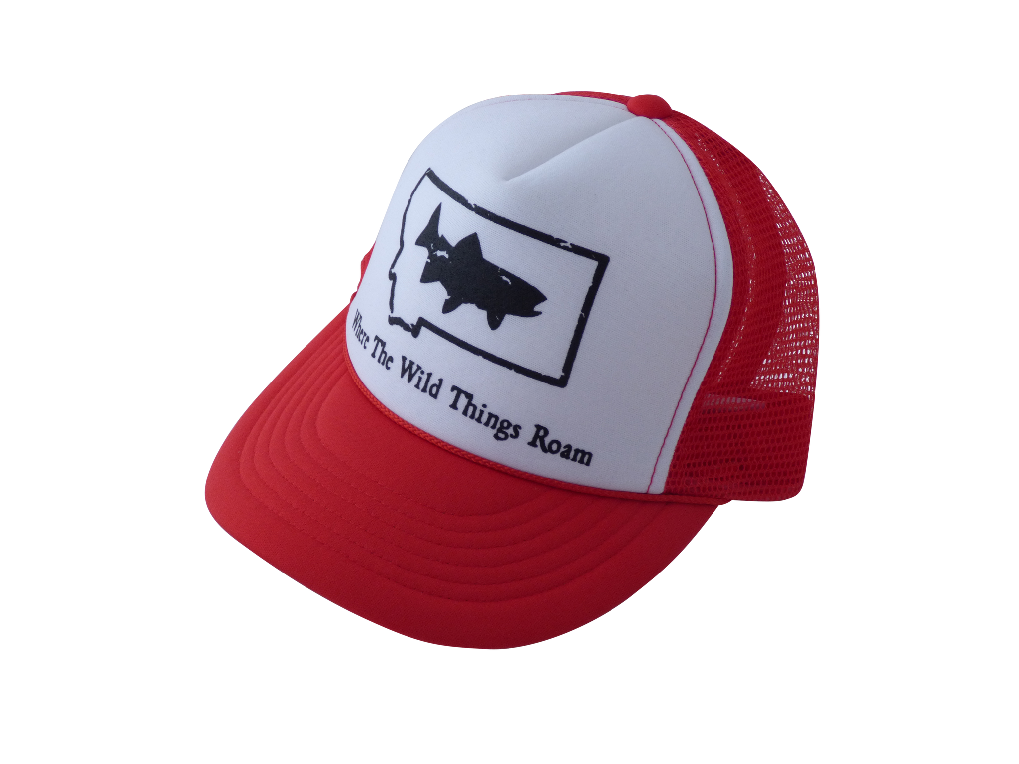 CLEARANCE Youth Red Fish Hat