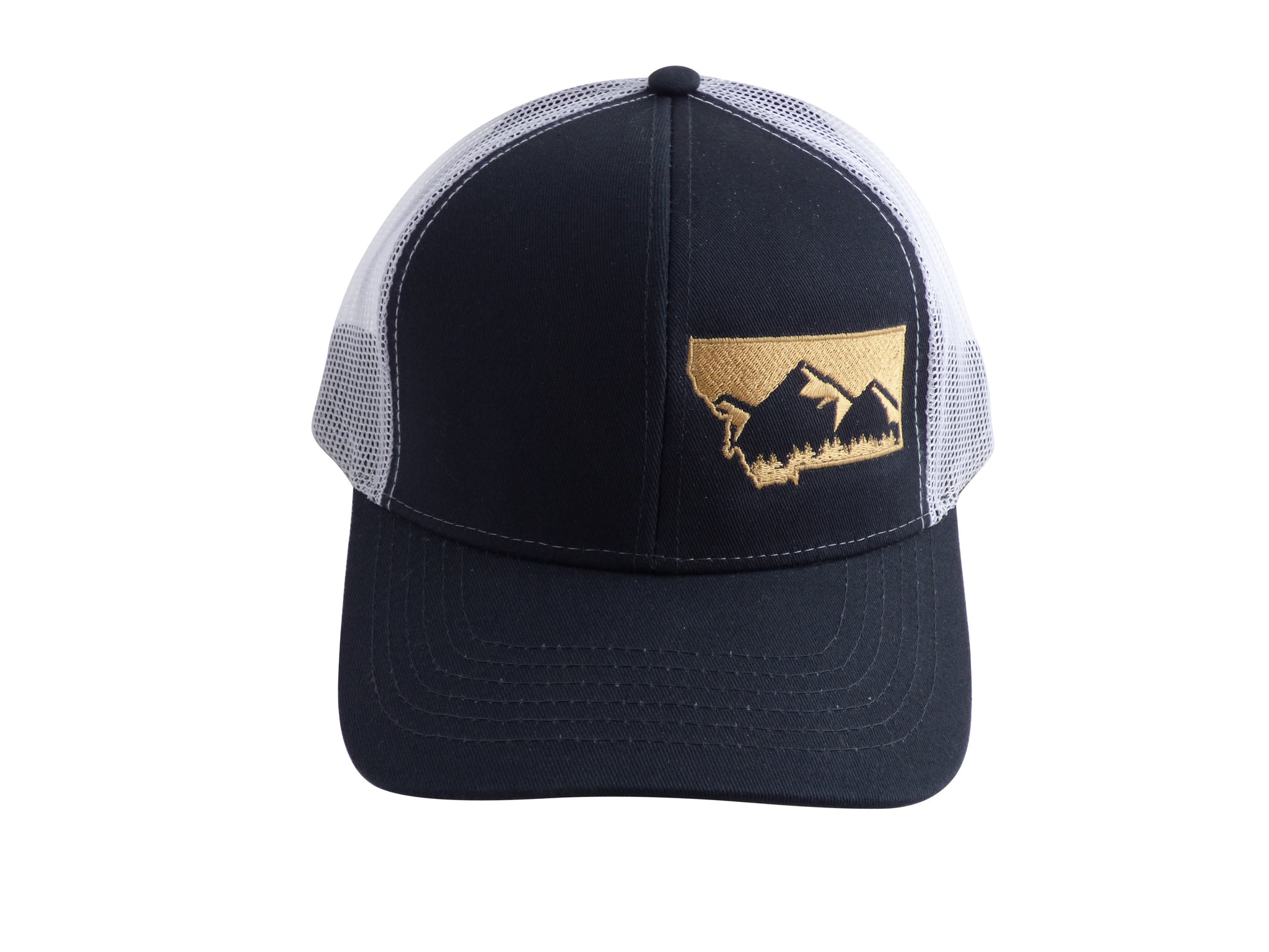 Navy with Gold Snapback Mountain Hat
