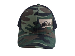 Camo with Tan Snapback Mountain Hat