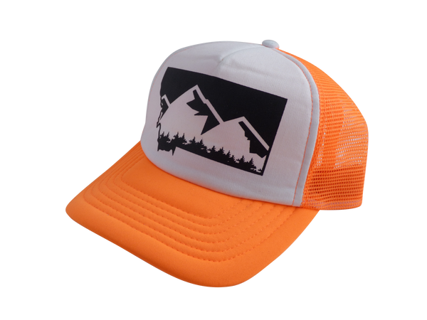 CLEARANCE Adult Neon Orange Mountain Hat