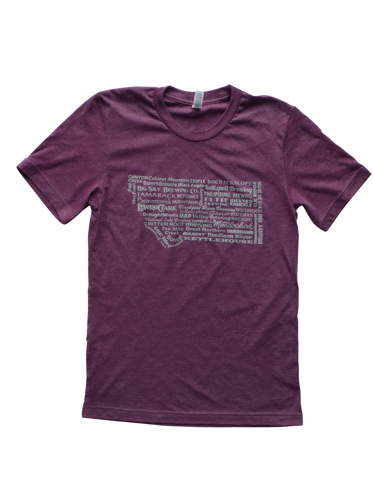 Men's Brewery Shirt Maroon