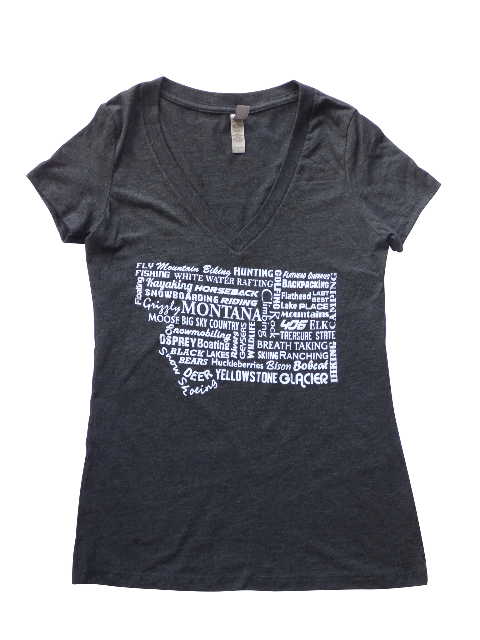 CLEARANCE Women's Charcoal Montana Word Shirt