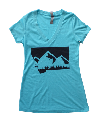 Women's Mountain Shirt Aqua
