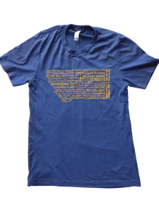 CLEARANCE Men's Blue and Gold Brewery Shirt