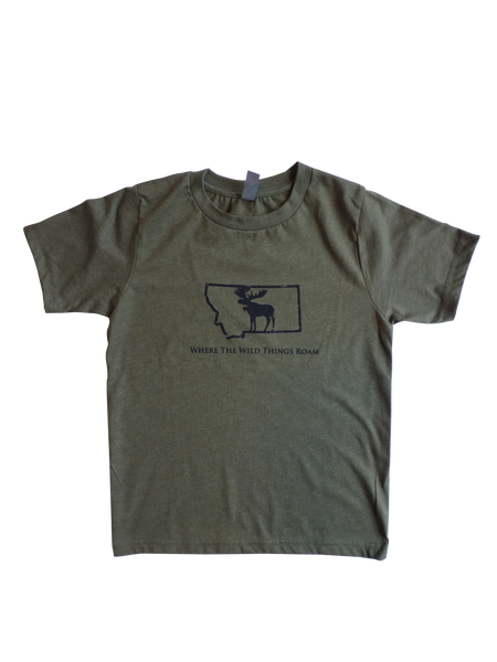 Youth Boy's Wild Moose Shirt