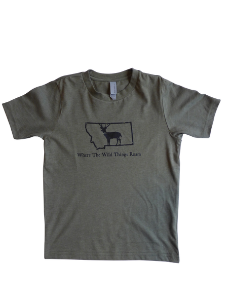 Youth Boy's Wild Deer Shirt