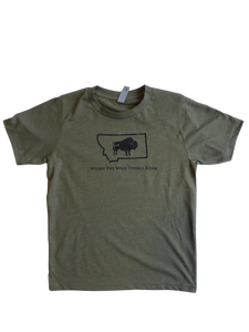 Youth Boy's Wild Bison Shirt