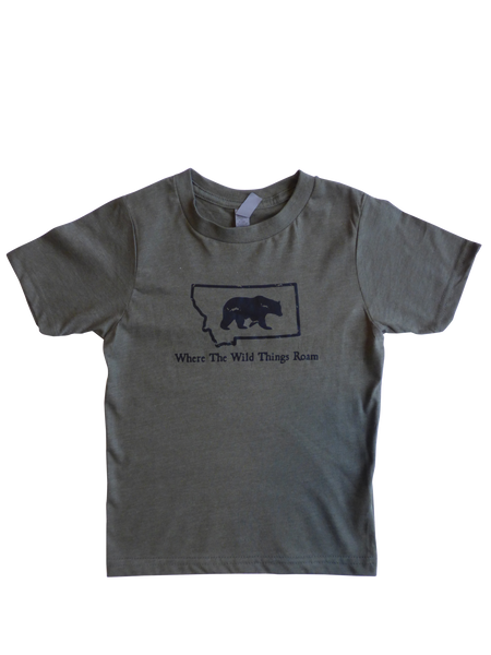 Youth Boy's Wild Bear Shirt