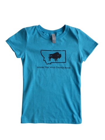 Girls Wild Bison Shirt