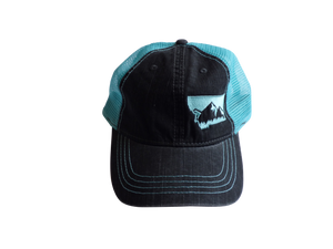 Soft Front Embroidered Mountain Hat Mint