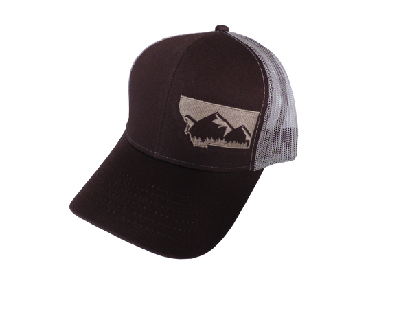 Brown and Tan Snapback Mountain Hat