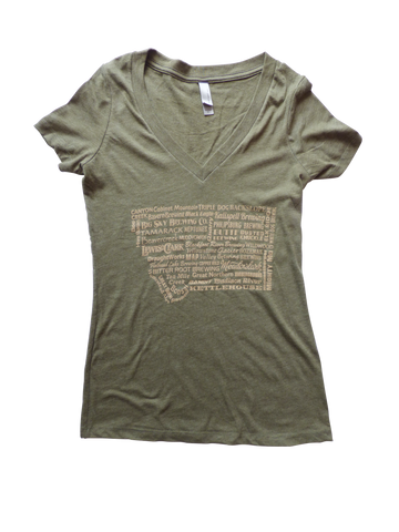 Women's Brewery Shirt Green
