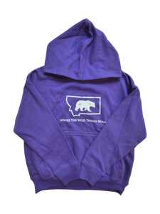 Youth Purple Bear Hoodie