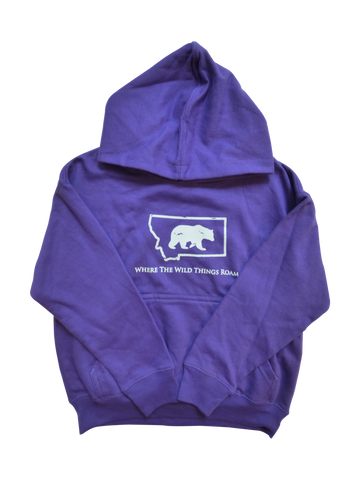 Toddler Purple Bear Hoodie
