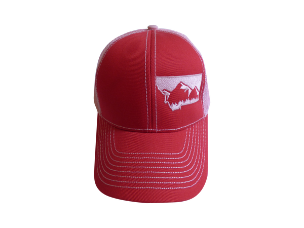 Low Profile Embroidered Mountain Hat