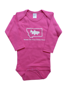 Long Sleeve Pink Fish Onesie