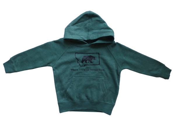 Toddler Green Wild Bear Hoodie