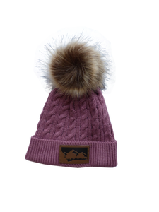 Infant/Toddler Mauve Pom Pom Hat