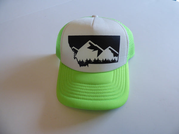 CLEARANCE Adult Neon Green Mountain Hat