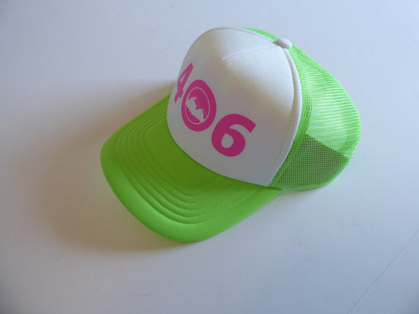 CLEARANCE Adult Neon Green and Neon Pink 406 Hat