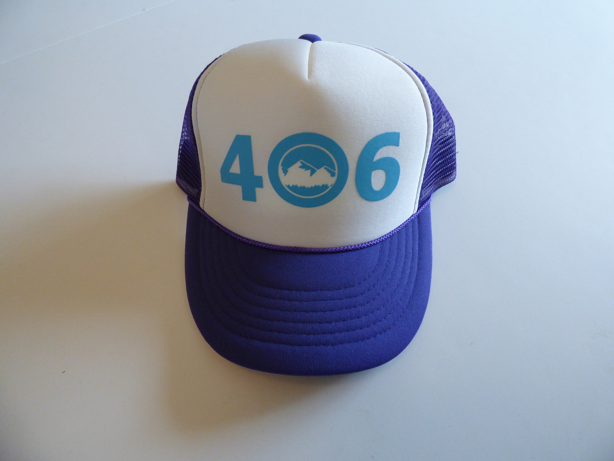 CLEARANCE Youth Purple and Aqua 406 Hat