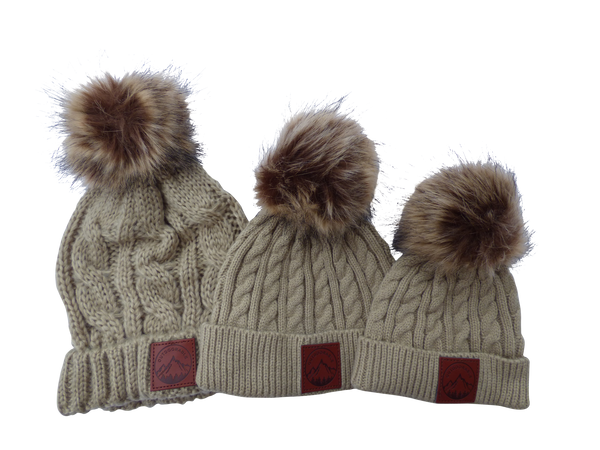 Infant/Toddler Tan Outdoorable Pom Pom Hat