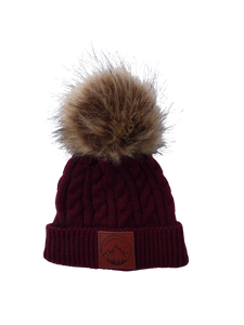 Infant/Toddler Maroon Outdoorable Pom Pom Hat