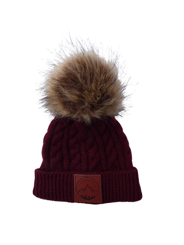 Child Maroon Outdoorable Pom Pom Hat