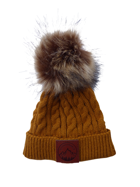 Infant/Toddler Mustard Outdoorable Pom Pom Hat