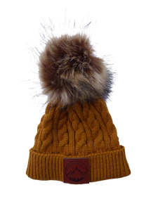 Child Mustard Outdoorable Pom Pom Hat