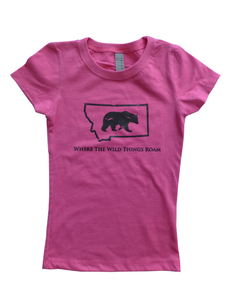 Girls Youth Wild Bear Shirt