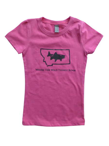 Girls Youth Wild Fish Shirt