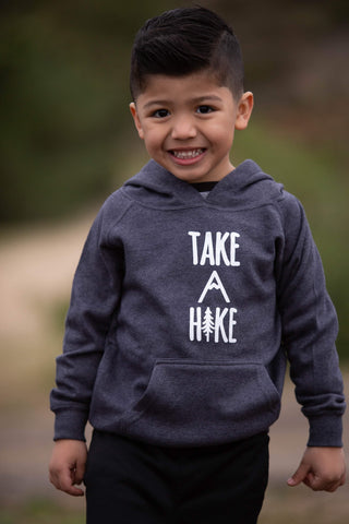 Toddler Heather Navy Take A Hike Hoodie