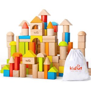 Colour Wooden Blocks 80pc set.