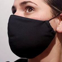 Load image into Gallery viewer, Triple layer fabric face mask - Black