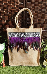 Jute Bag   Purple