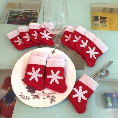 Christmas Stockings Tableware Holder Navidad Natal