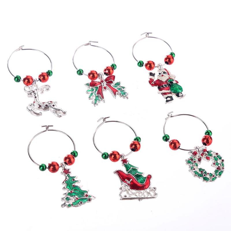 Wine Glass Decoration Charms Party New Year