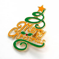 New Christmas Gift Fashion Merry Christmas Letters Christmas Tree Brooch
