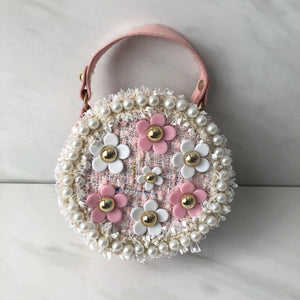 TWEED CIRCLE FLOWER GIRL BAG