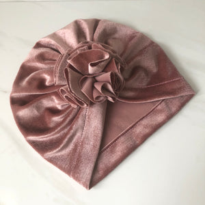 Flower Burst Velvet Turban